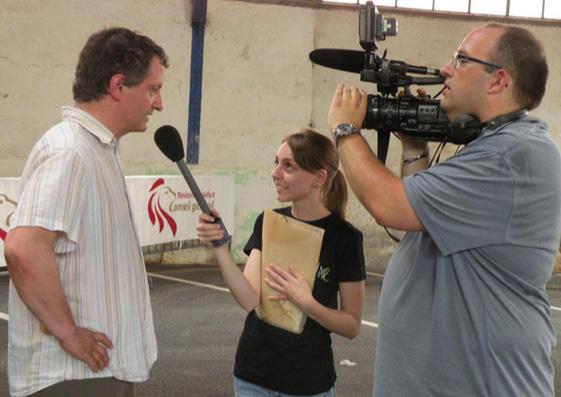 Aurore Delon sur un tournage avec Time Prod