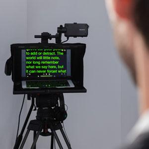 Prompteur ipad leger pour video d entreprise